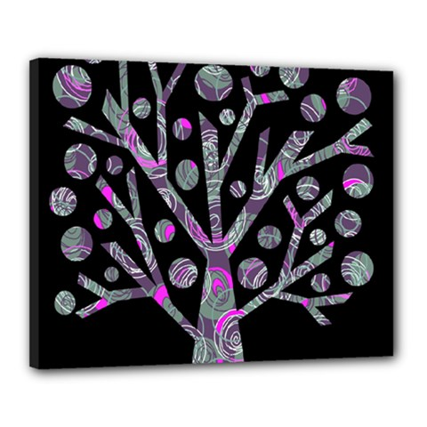 Purple Magical Tree Canvas 20  X 16  by Valentinaart