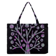 Purple Magical Tree Medium Zipper Tote Bag by Valentinaart