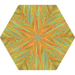 Beautiful Abstract In Orange, Aqua, Gold Mini Folding Umbrellas by theunrulyartist