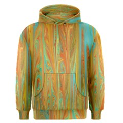 Beautiful Abstract In Orange, Aqua, Gold Men s Pullover Hoodie by theunrulyartist