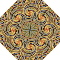 Gold Blue And Red Swirl Pattern Golf Umbrellas by theunrulyartist