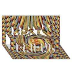 Gold Blue And Red Swirl Pattern Best Friends 3d Greeting Card (8x4) by theunrulyartist