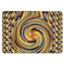 Gold Blue and Red Swirl Pattern Samsung Galaxy Tab 8.9  P7300 Flip Case View1