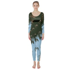 Sun Ray Swirl Design Long Sleeve Catsuit by theunrulyartist