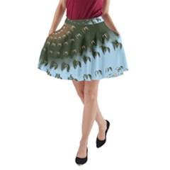Sun Ray Swirl Design A Line Pocket Skirt by theunrulyartist