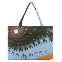 Sun Ray Swirl Design Medium Zipper Tote Bag by theunrulyartist