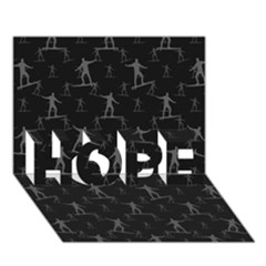 Surfing Motif Pattern Hope 3d Greeting Card (7x5) by dflcprints