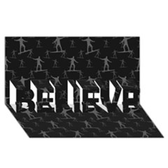 Surfing Motif Pattern Believe 3d Greeting Card (8x4) by dflcprints