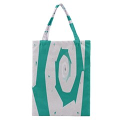 Aqua Blue And White Swirl Design Classic Tote Bag by theunrulyartist