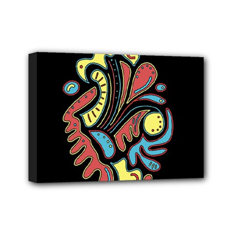 Colorful Abstract Spot Mini Canvas 7  X 5  by Valentinaart