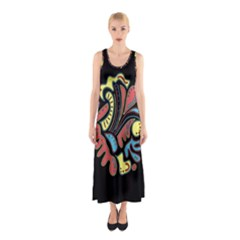 Colorful Abstract Spot Sleeveless Maxi Dress by Valentinaart