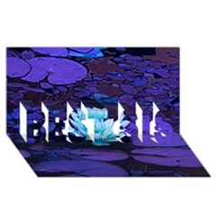 Lotus Flower Magical Colors Purple Blue Turquoise Best Sis 3d Greeting Card (8x4) by yoursparklingshop