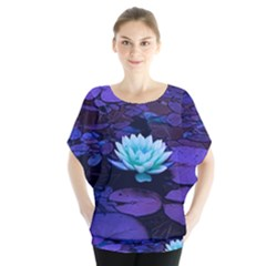 Lotus Flower Magical Colors Purple Blue Turquoise Blouse by yoursparklingshop
