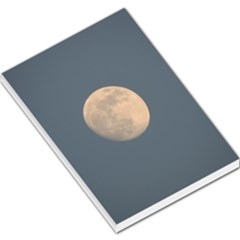 The Moon and blue sky Large Memo Pads by picsaspassion