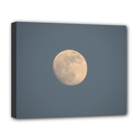The Moon And Blue Sky Deluxe Canvas 20  X 16   by picsaspassion