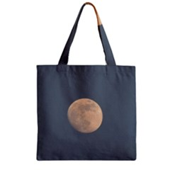 The Moon And Blue Sky Zipper Grocery Tote Bag by picsaspassion