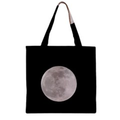Full Moon At Night Zipper Grocery Tote Bag by picsaspassion