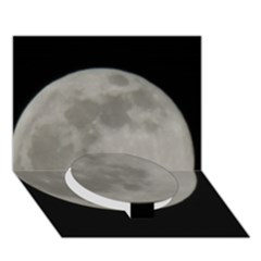 Close To The Full Moon Circle Bottom 3d Greeting Card (7x5) by picsaspassion
