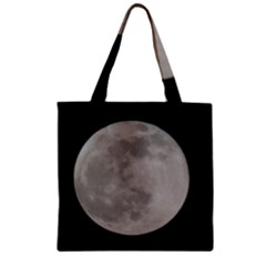 Close To The Full Moon Zipper Grocery Tote Bag by picsaspassion
