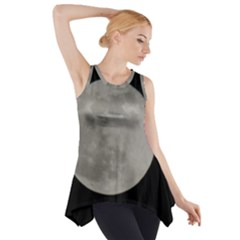 Close To The Full Moon Side Drop Tank Tunic by picsaspassion