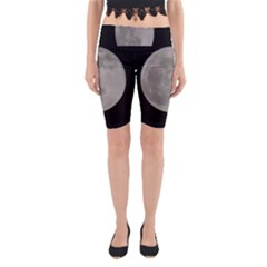 Close To The Full Moon Yoga Cropped Leggings