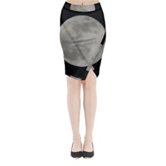 Close To The Full Moon Midi Wrap Pencil Skirt by picsaspassion