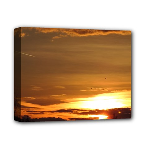 Summer Sunset Deluxe Canvas 14  X 11  by picsaspassion