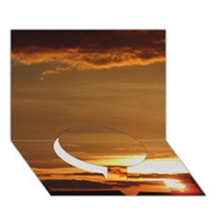 Summer Sunset Circle Bottom 3d Greeting Card (7x5) by picsaspassion
