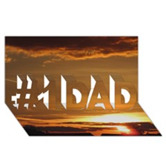 Summer Sunset #1 DAD 3D Greeting Card (8x4) by picsaspassion