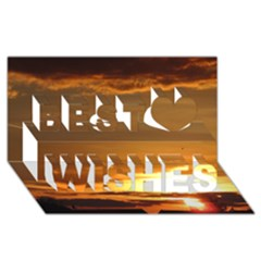 Summer Sunset Best Wish 3d Greeting Card (8x4) by picsaspassion