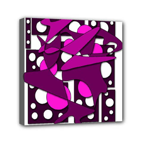 Something Purple Mini Canvas 6  X 6  by Valentinaart