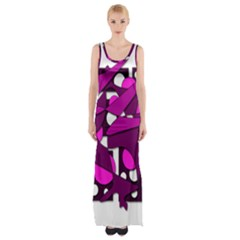 Something Purple Maxi Thigh Split Dress by Valentinaart
