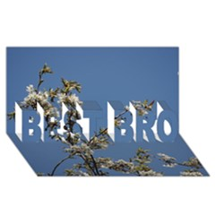 White Cherry Flowers And Blue Sky Best Bro 3d Greeting Card (8x4) by picsaspassion