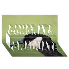 Goose Bird In Nature Congrats Graduate 3d Greeting Card (8x4) by picsaspassion