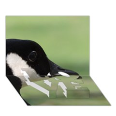 Goose, Black And White Love Bottom 3d Greeting Card (7x5) by picsaspassion
