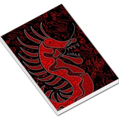 Red Dragon Large Memo Pads by Valentinaart