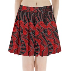 Red Dragon Pleated Mini Skirt by Valentinaart