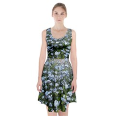 Blue Forget Me Not Flowers Racerback Midi Dress by picsaspassion