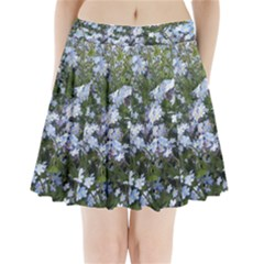 Little Blue Forget Me Not Flowers Pleated Mini Skirt by picsaspassion