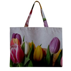 Colorful Bouquet Tulips Zipper Mini Tote Bag by picsaspassion