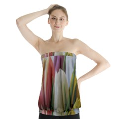 Colored By Tulips Strapless Top by picsaspassion