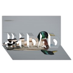 Wild Duck Swimming In Lake #1 Dad 3d Greeting Card (8x4)