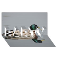 Wild Duck Swimming In Lake Party 3d Greeting Card (8x4)