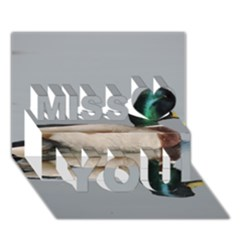 Wild Duck Swimming In Lake Miss You 3d Greeting Card (7x5)
