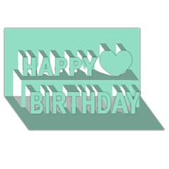 Mint Color Happy Birthday 3d Greeting Card (8x4) by picsaspassion