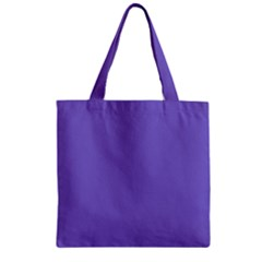 Lilac   Purple Color Design Zipper Grocery Tote Bag by picsaspassion