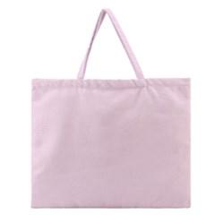 Pink color design Zipper Large Tote Bag by picsaspassion