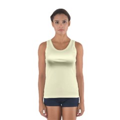 Yellow Color Design Women s Sport Tank Top  by picsaspassion