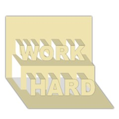 Gold Yellow Color Design Work Hard 3d Greeting Card (7x5) by picsaspassion