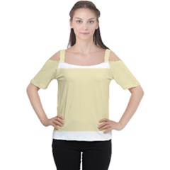 Gold Yellow Color Design Women s Cutout Shoulder Tee by picsaspassion